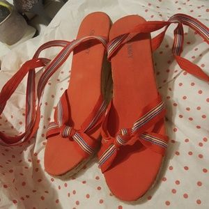 Shoes - Old Navy wrap ankle sandals